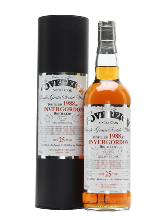 Invergordon 1988 / 25 Year Old / Sovereign Single Grain Scotch Whisky