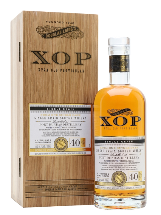 Port Dundas 1978 / 40 Year Old /  Xtra Old Particular Single Whisky