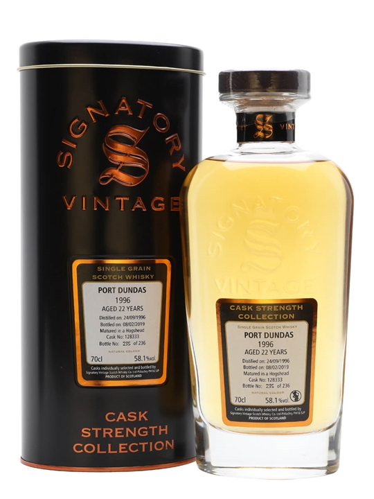 Port Dundas 1996 / 22 Year Old / Signatory Single Grain Scotch Whisky