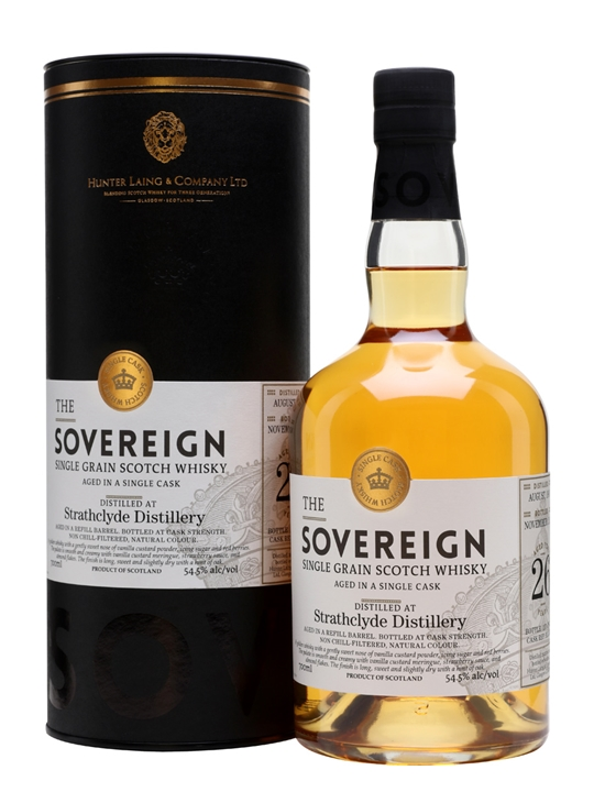 Strathclyde 1990 / 26 Year Old / Sovereign Single Grain Scotch Whisky