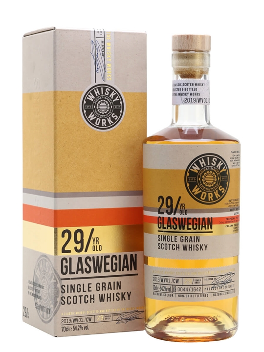 Glaswegian Single Grain 29 Year Old / Whisky Works Single Whisky