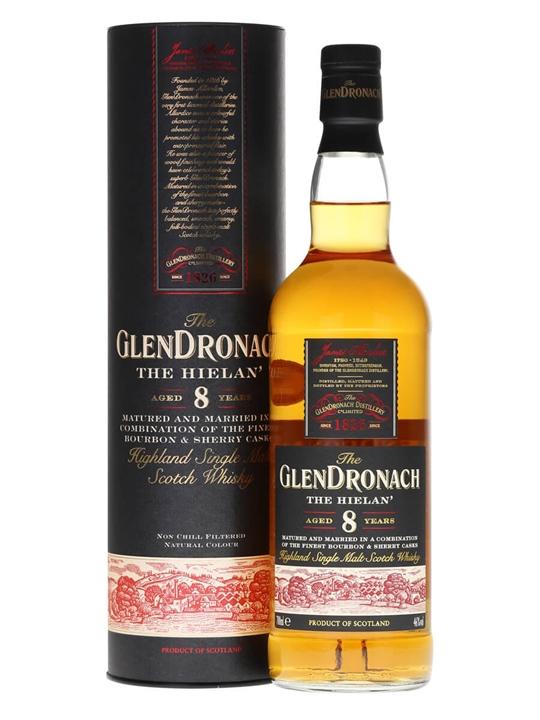 Glendronach 8 Year Old / The Hielan Highland Single Malt Scotch Whisky