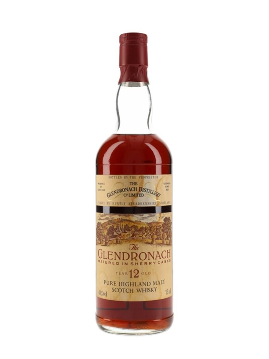 Glendronach 12 Year Old / Sherry Cask / Bot.1980s Highland Whisky