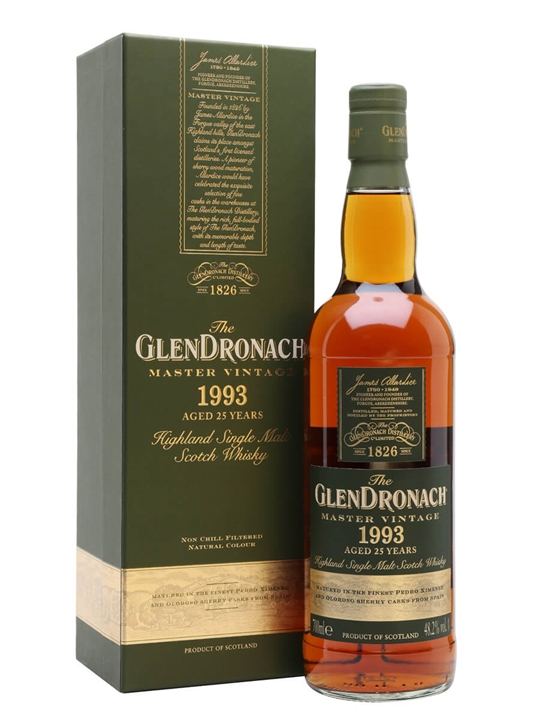 Glendronach 1993 / 25 Year Old / Master Vintage Highland Whisky