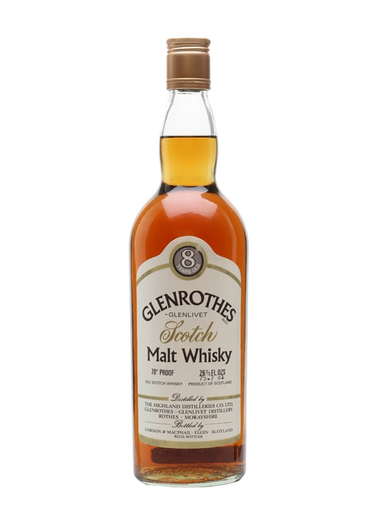 Glenrothes 8 Year Old / Bot.1970s / Gordon & Macphail Speyside Whisky