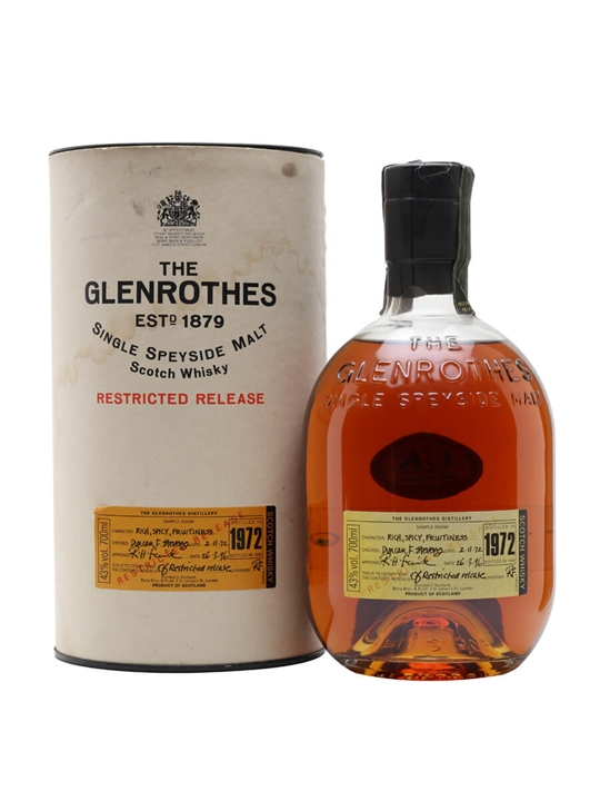 Glenrothes 1972 / 23 Year Old Speyside Single Malt Scotch Whisky