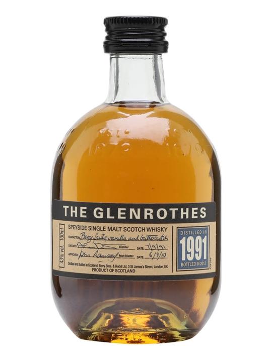 Glenrothes 1991 / Bot.2012 / Small Bottle Speyside Whisky