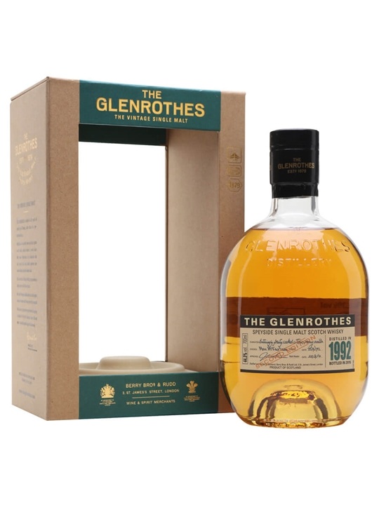 Glenrothes 1992 / 2nd Release Speyside Single Malt Scotch Whisky
