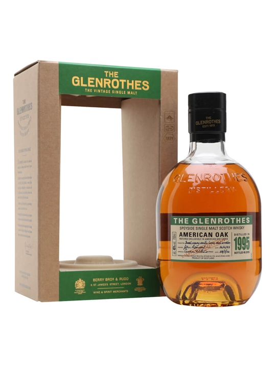 Glenrothes 1995 / American Oak Speyside Single Malt Scotch Whisky