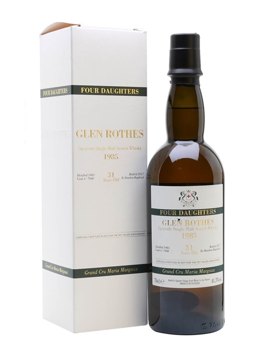 Glenrothes 1985 / 31 Year Old / Maria Margaux/four Daughters Speyside Whisky