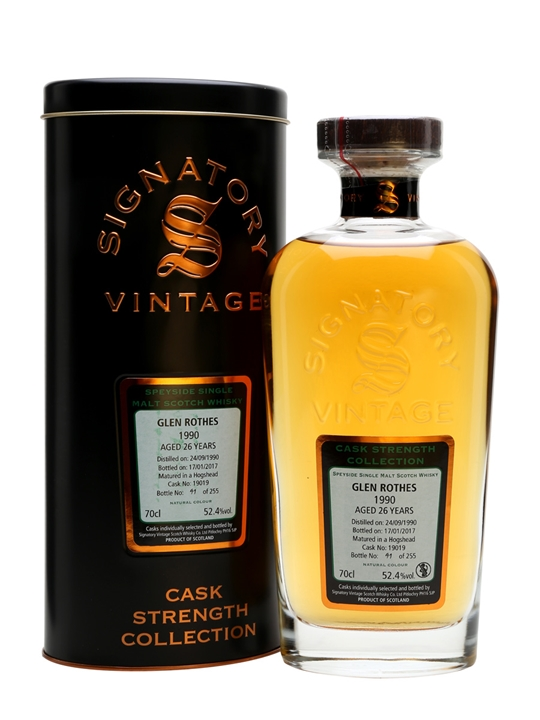 Glenrothes 1990 / 26 Year Old / Cask #19019 / Signatory Speyside Whisky