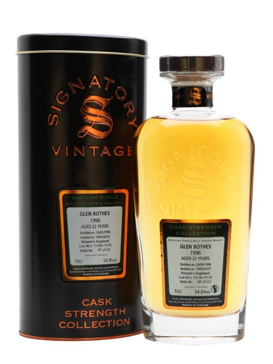 Glenrothes 1996 / 22 Year Old / Signatory Speyside Whisky