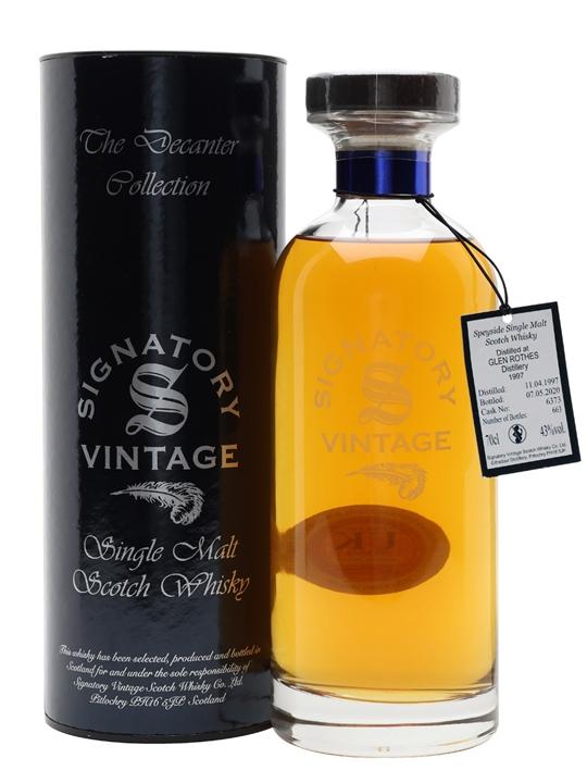Glenrothes 1997 / 23 Year Old / Signatory Speyside Whisky