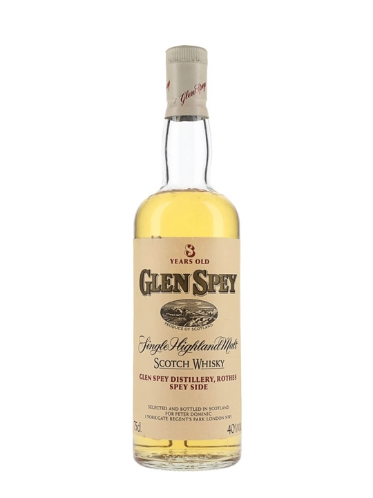 Glen Spey 8 Year Old / Bot.1980s Speyside Single Malt Scotch Whisky