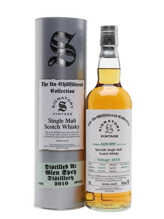 Glen Spey 2010 / 10 Year Old / Signatory Speyside Whisky