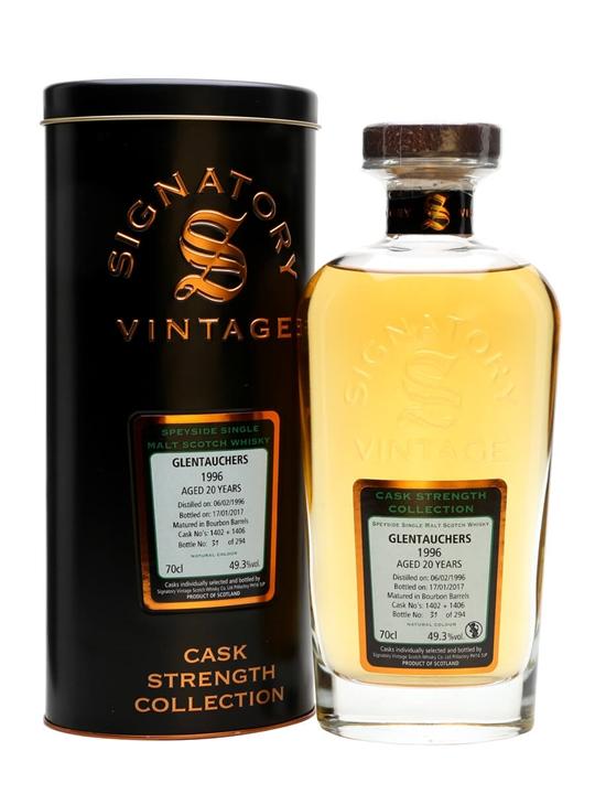 Glentauchers 1996 / 20 Year Old / Cask #1402+1406 /signatory Speyside Whisky