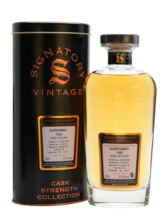 Glenturret 1988 / 29 Year Old / Signatory Highland Whisky