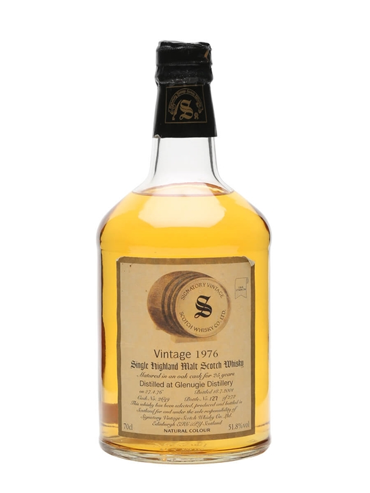 Glenugie 1976 / 25 Year Old / Signatory Highland Whisky