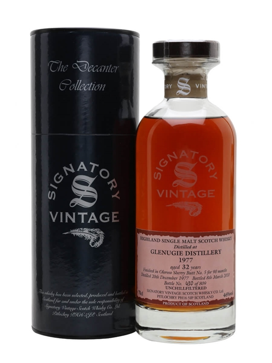 Glenugie 1977 / 32 Year Old / Sherry Finish / Signatory Highland Whisky