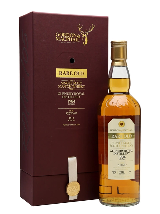 Glenury Royal 1984 / 28 Year Old / Rare Old / Gordon & Macphail Highland Whisky