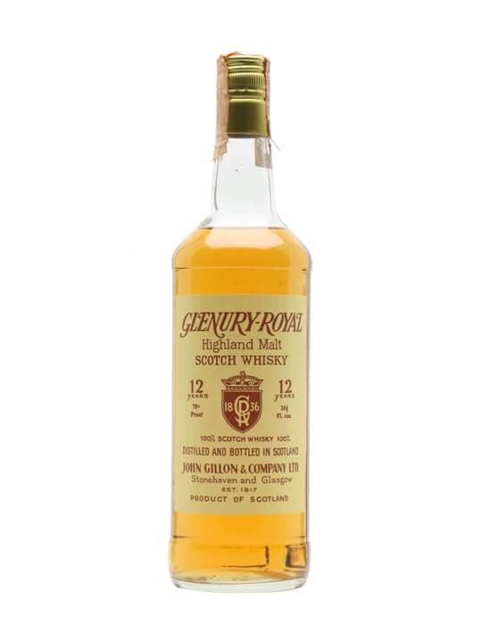 Glenury Royal 12 Year Old / John Gillon / Bot.1980s Highland Whisky