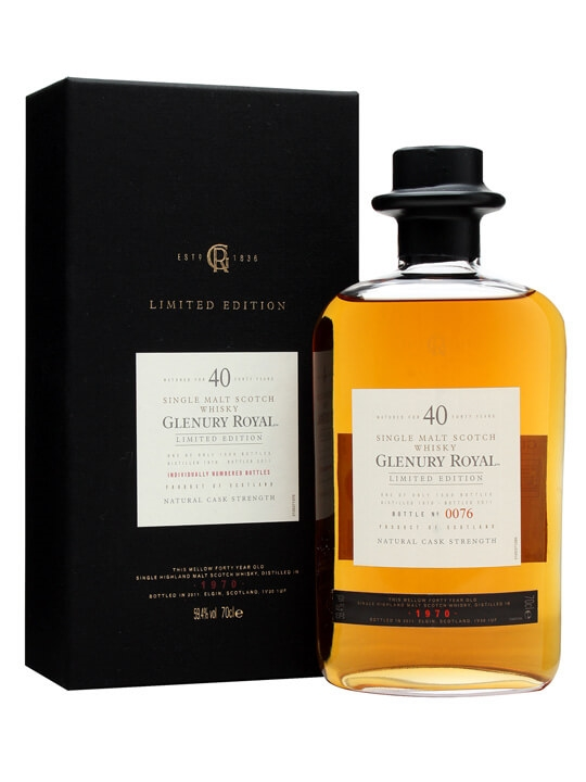 Glenury Royal 1970 / 40 Year Old Highland Single Malt Scotch Whisky