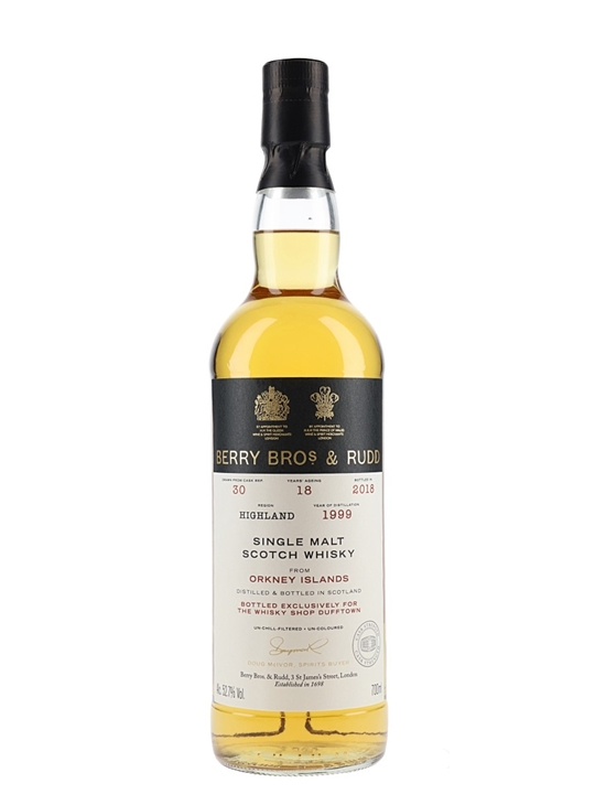 Orkney 1999 / 18 Year Old / Berry Bros & Rudd Island Whisky