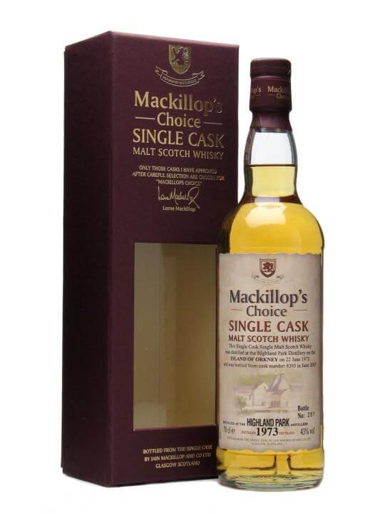 Highland Park 1973 / Bot.2007 / Mackillops Island Whisky