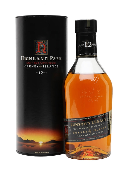 Highland Park 12 Year Old / Eunson's Legacy Island Whisky