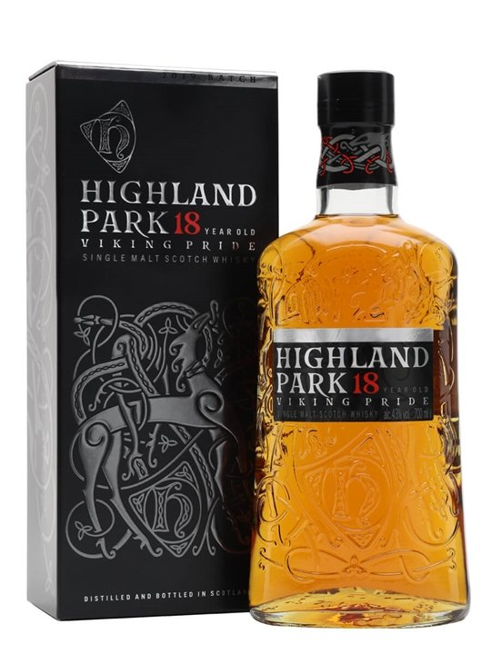Highland Park 18 Year Old / Viking Pride Island Whisky