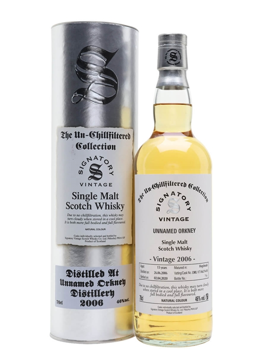 Unnamed Orkney 2006 / 13 Year Old / Signatory Island Whisky