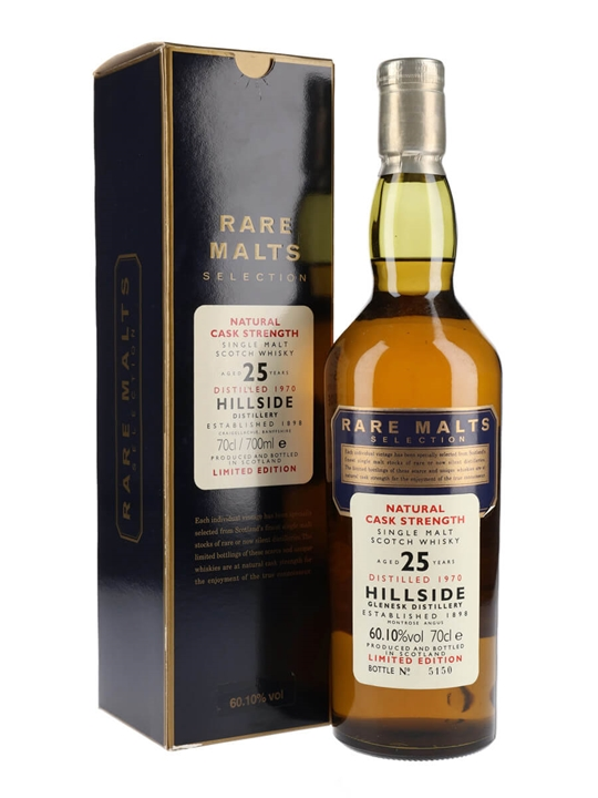 Hillside 1970 / 25 Year Old / Rare Malts Highland Whisky