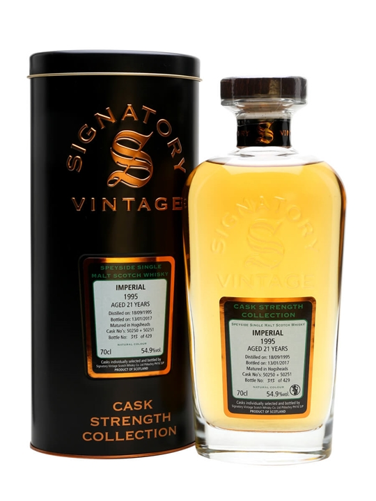 Imperial 1995 / 21 Year Old / Signatory Speyside Whisky