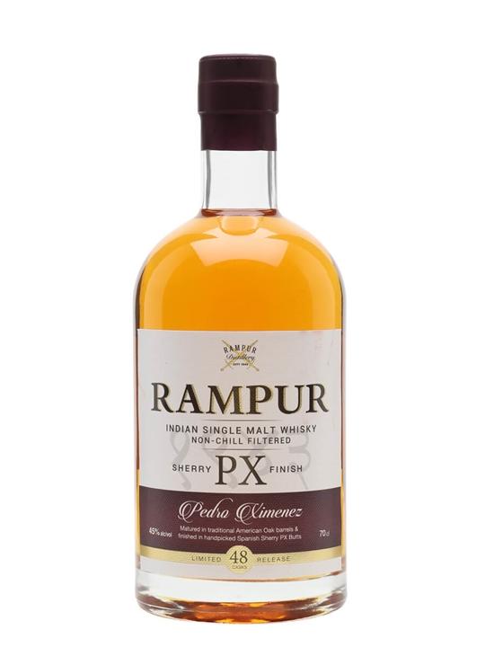 Rampur Single Malt Whisky / PX Sherry Cask Indian Single Malt Whisky