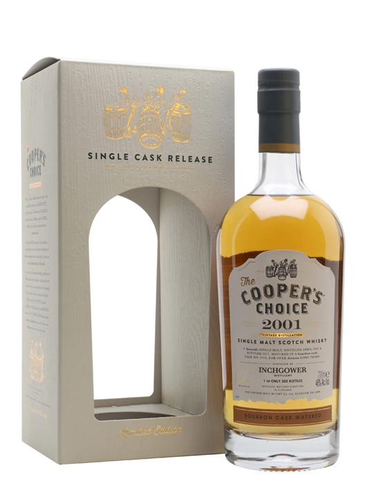 Inchgower 2001 / 16 Year Old / The Cooper's Choice Speyside Whisky