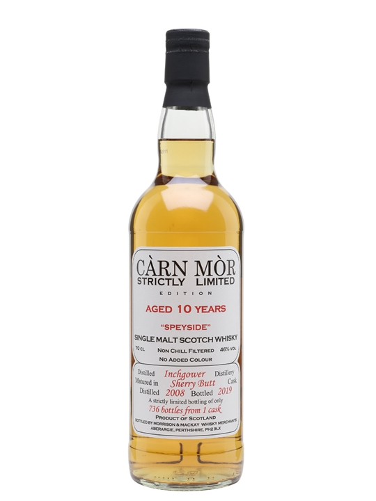 Inchgower 2008 / 10 Year Old / Carn Mor Strictly Limited Speyside Whisky