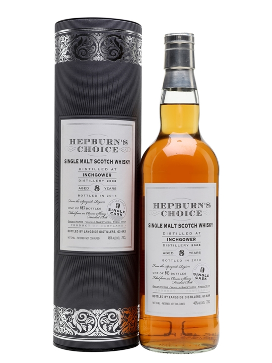 Inchgower 2008 / 8 Year Old / Hepburn's Choice Speyside Whisky