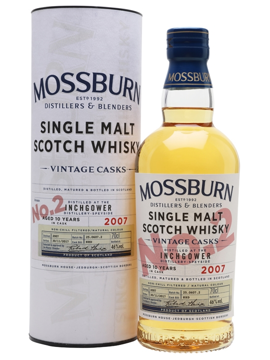 Inchgower 2007 / 10 Year Old / Vintage Casks #2 / Mossburn Speyside Whisky
