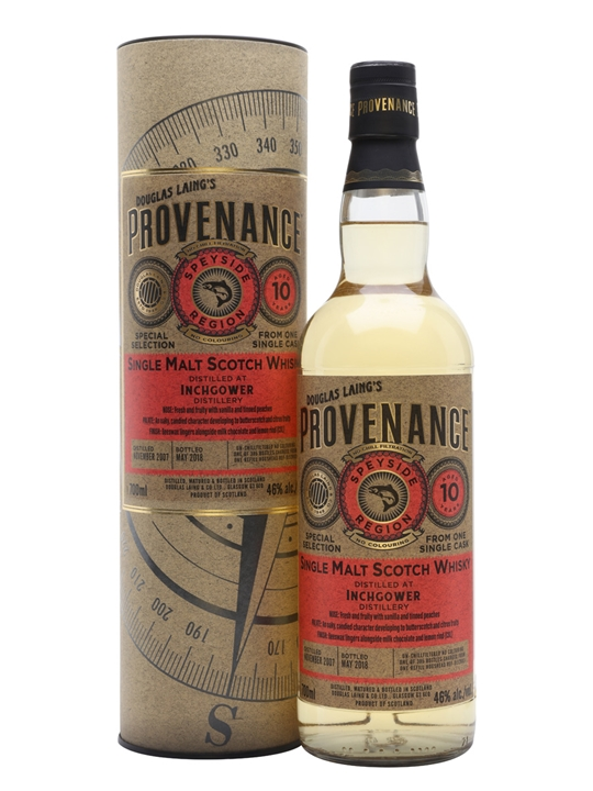 Inchgower 2007 / 10 Year Old / Provenance Speyside Whisky