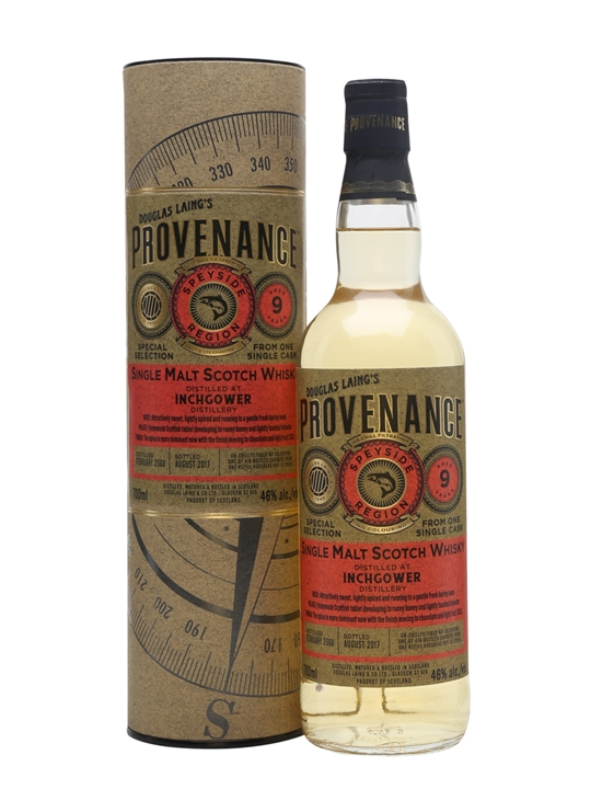 Inchgower 2008 / 9 Year Old / Provenance Speyside Whisky