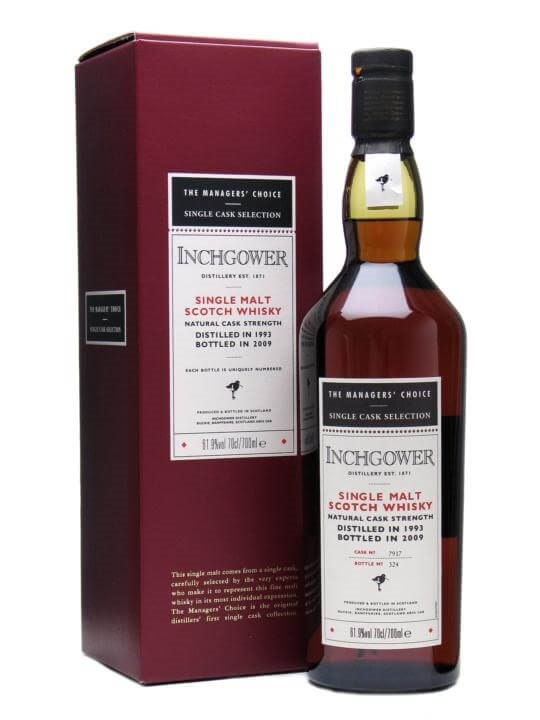 Inchgower 1993 / Managers Choice / Sherry Cask Speyside Whisky