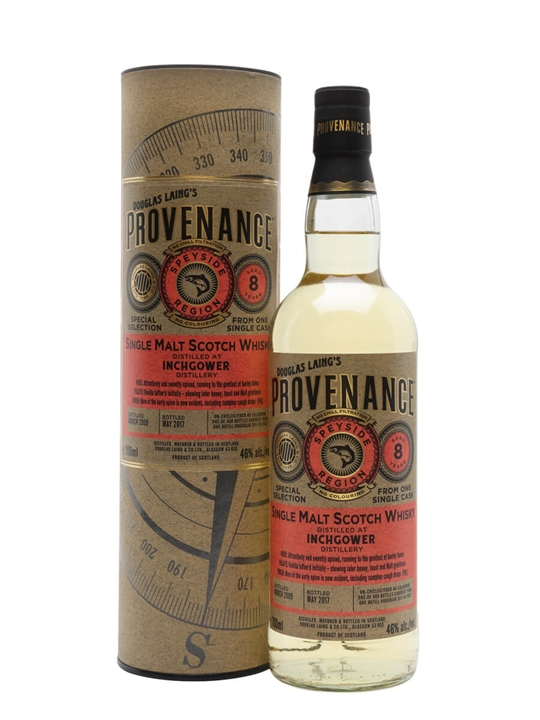 Inchgower 2009 / 8 Year Old / Provenance Speyside Whisky
