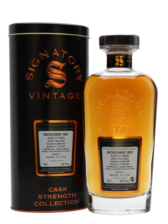 Inchgower 1997 / 22 Year Old / Sherry Cask Finish / Signatory Speyside Whisky
