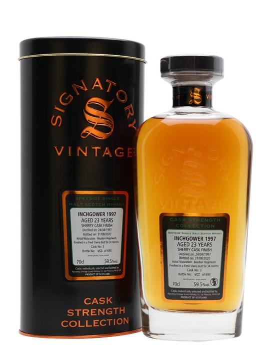Inchgower 1997 / 23 Year Old / Signatory Speyside Whisky