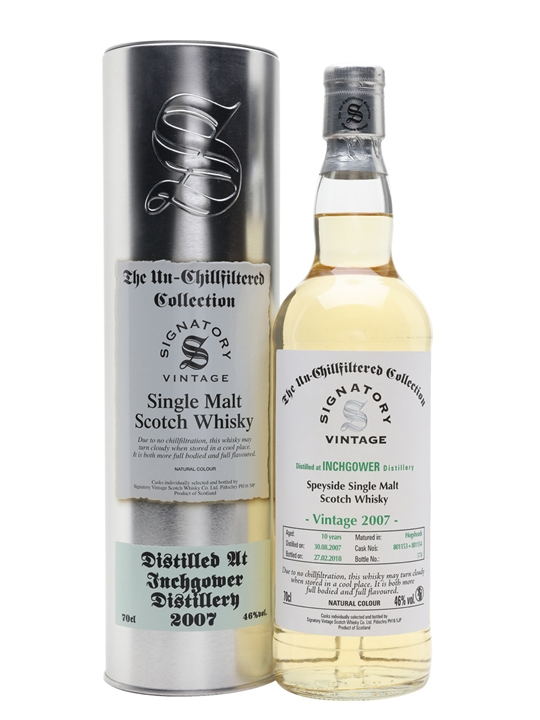 Inchgower 2007 / 10 Year Old / Signatory Speyside Whisky