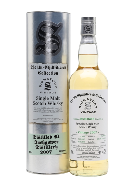 Inchgower 2007 / 11 Year Old / Signatory Speyside Whisky