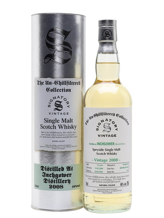 Inchgower 2008 / 12 Year Old / Signatory Speyside Whisky
