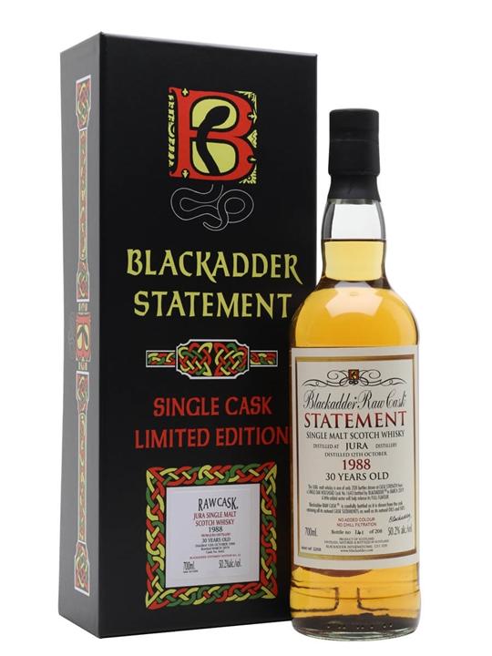 Jura 1988 / 30 Year Old / Blackadder Statement No 32 Island Whisky