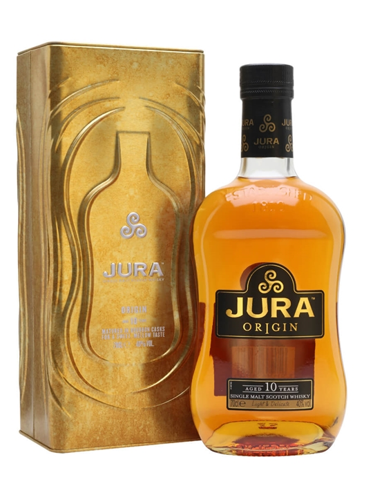 Isle Of Jura 10 Year Old / Origin Island Single Malt Scotch Whisky
