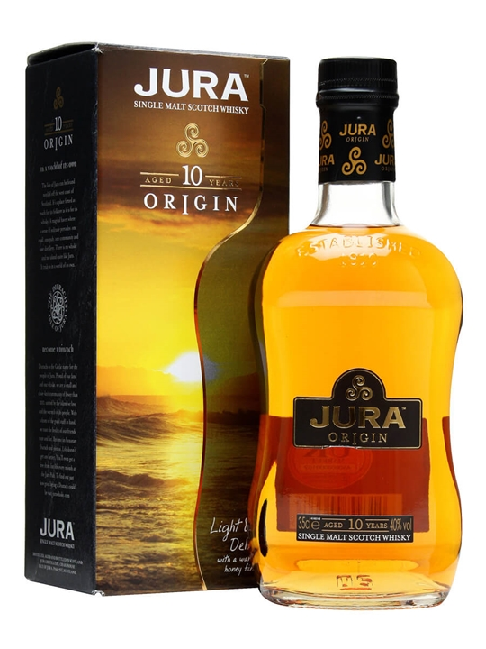 Isle Of Jura 10 Year Old / Origin / Half Bottle Island Whisky